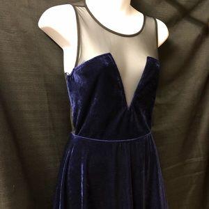 NWT Forever21 Blue Velvet Dress
